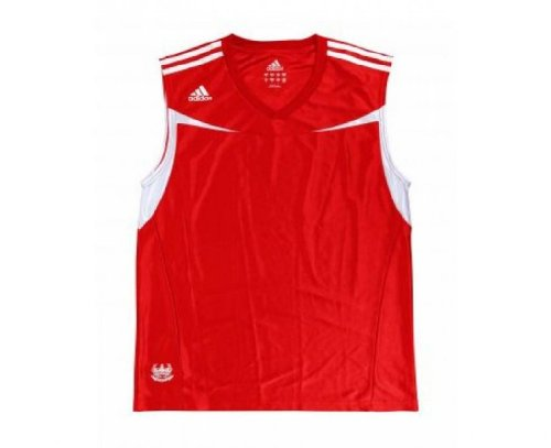 adidas Herren Boxweste, Rot/Weiß, XL