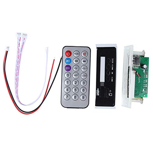 fosa 12V Bluetooth 4.2 MP3 Decoder Board, MP3 Wireless Bluetooth Speaker Lossless Audio Decode Board Module, Support APP and APK, LED Display, Remote Decoding Board Module