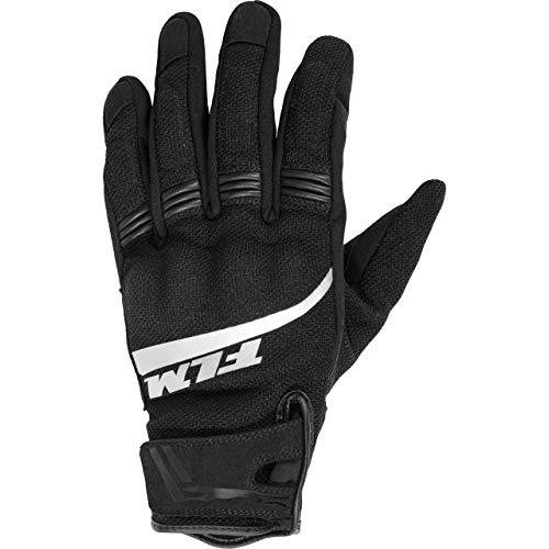 FLM Motorradhandschuhe kurz Motorrad Handschuh Sommer Textilhandschuh 1.0 schwarz 8,5, Herren, Sportler
