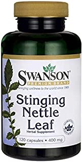 Swanson Stinging Nettle Leaf Herb Urinary Tract Health Respiratory Health Prostate Support Men's Health Herbal Supplement (Urtica dioica Leaf) 400 mg 120 Capsules