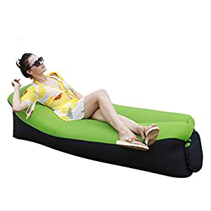 AHJSN Sofá Cama de Aire Inflable rápido Muebles de jardín al Aire Libre Camping Sacos de Dormir Perezosos Impermeables PlegableVerde