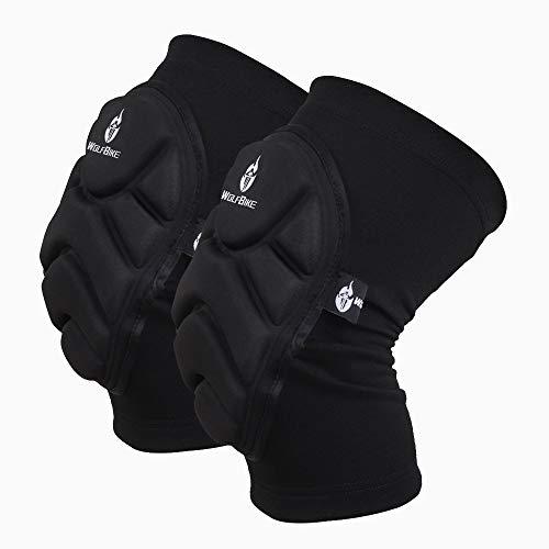WOSAWE Rodilleras de Protección, Elástica Alta Compresión de Rodilla Soporte para Crossfit, Voleibol, Bicicleta, Baloncesto, Saltar, Correr - 1 Par