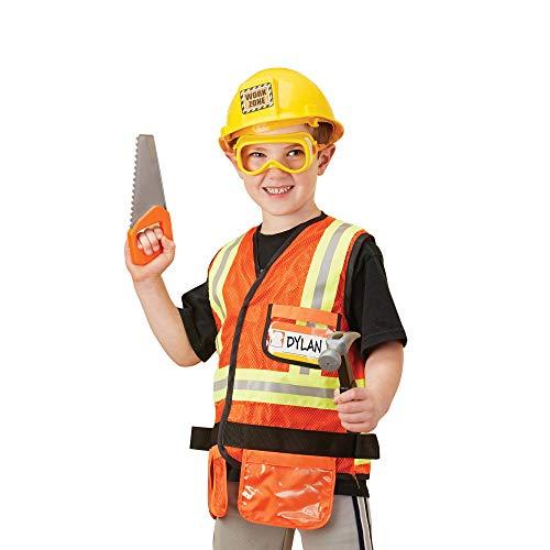 Price comparison product image Melissa & Doug Construction Worker Role Play Costume Dress-Up Set (6 pcs)