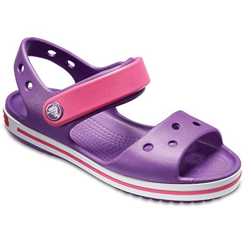 Crocs Kinder Crocband Sandalen (20-21 EU) (Amethyst/Paradies Pink)