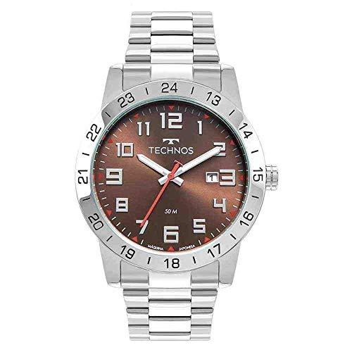 Relógio Technos Masculino Ref: 2115mwr/1m Militar Prateado