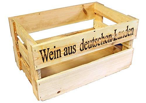 UTI GmbH Hochwertige und sehr robuste Weinstiege - sägerau - Weinkiste - Weinsteige - Holzkiste - Lagerbox - Kiste - Stiege - B-Ware