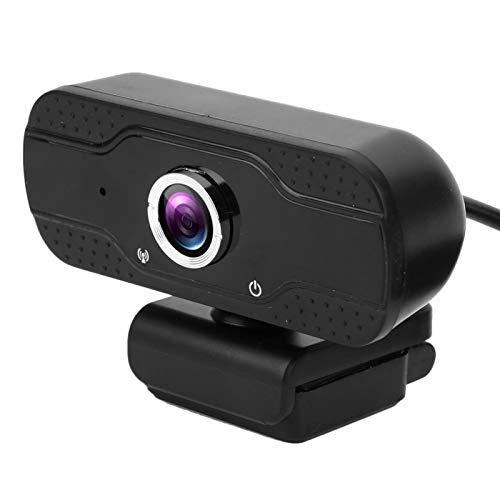 Pwshymi Cámara 1080P Alta definición Ángulo de 78 ° Seguimiento automático multidireccional Vigilancia Cámara Web Recargable por USB Visión Nocturna para supervisores de Pruebas Teleconferencia en
