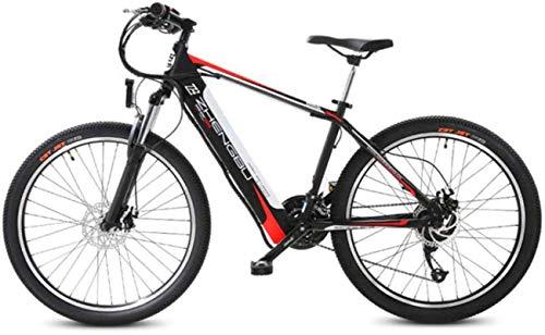 Bicicleta eléctrica de nieve, 26' bicicletas de montaña eléctrica for adultos, Todo Terreno Ebikes E-MTB de aleación de magnesio 400W 48V extraíble de iones de litio 27 plazos de envío de la bicicleta