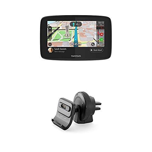 TomTom GO 520 Pkw-Navi (5 Zoll mit Updates über Wi-Fi, Lebenslang Traffic via Smartphone, Weltkarten, Freisprechen) + Aktiv Lüftungsschlitzhalterung