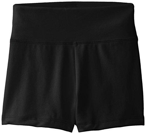 Capezio girls Team Basic High Waisted shorts, Black, 12-Oct US