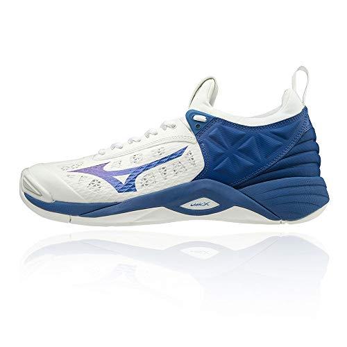 Mizuno Wave Momentum, Zapatos de Voleibol Unisex Adulto, Blanco (Wht/10249c/Trueblue 21), 42 EU