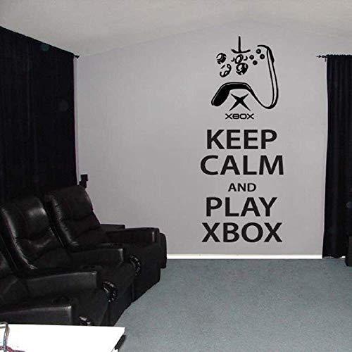 42X103 Cm Gamer Game Zone Decor Muurstickers Blijf Kalm En Speel Xbox One Muursticker Sticker Citaat Slaapkamer Jongens Kamer Decoratie Poster