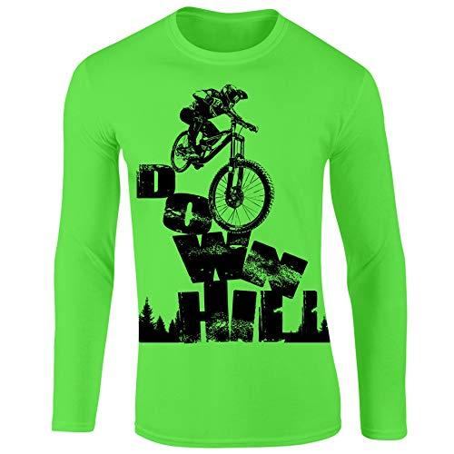 Bang Tidy Clothing Mountain Biking MTB Jersey - Personalized Cycling Gifts for Men Downhill EGREEN-XL