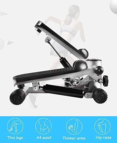YLEI Drehstepper multifunktional, Side Stepper tragbar mit Trainingscomputer, Kalorienzähler/Schrittzähler/Timer/Fitnessgerät, Maximale Belastbarkeit 120 kg