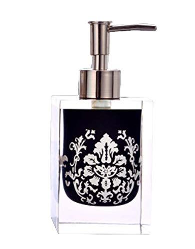 Salle de bains distributeurs de savon Shampooing Bouteilles Container [Noir]