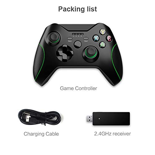 ワイヤレスコントローラー、2.4GゲームジョイスティックXboxOneコントローラーPs3 / AndroidスマートフォンゲームパッドWinPc 7/8/10 01
