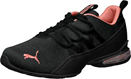 PUMA Women's Riaze Prowl Wn Sneaker, Black-Spiced Coral, 10 M US