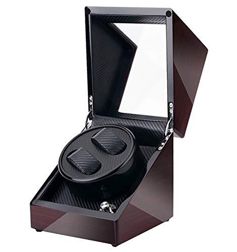 Caja Giratoria para Relojes automático con Doble Epítopo Estuche Caja de Enrollador de Reloj con 5 Modos para 2 Relojes Watch Winder con Motor Silencioso para Relojes Mecánicos (para 2 Reloj)