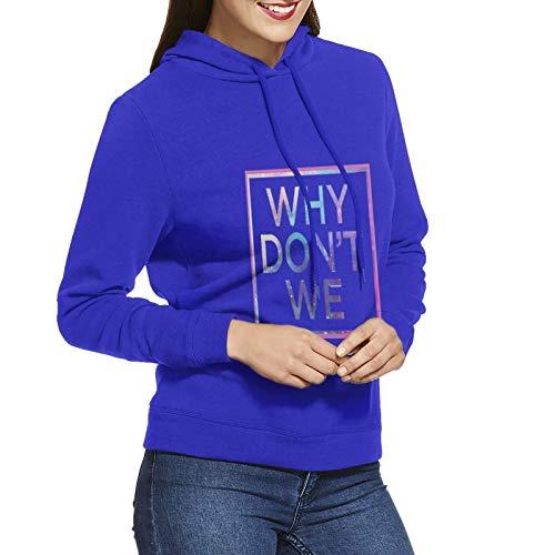 Why-Don't-We Damen Pullover Langarm Sweatshirt Hoodie Gr. XX-Large, blau