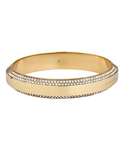 Michael Kors Mujer de pulsera acero inoxidable cristal Piedra One Size, Oro