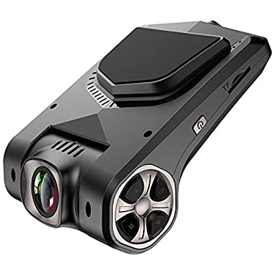 """FUNBOT Dash Cam, 1080P Dashboard Camera Recorder 2.45"""" 170 Degree Wide Angle with Gravity Sensor, 16GB MICROSD Card, Sony Video Sensor,Night Vision, WDR, Loop Recording by FUNBOT"""