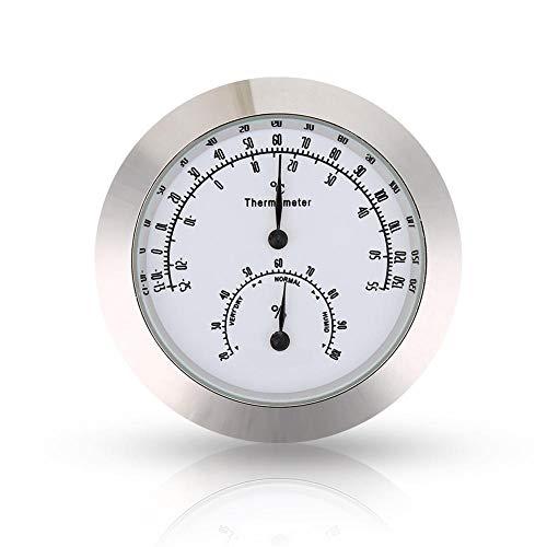 VGEBY1 Thermometer Hygrometer Feuchtetemperaturmesser für Violine Gitarrenkoffer Instrumentenpflege(Silber)
