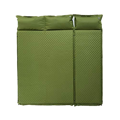 188x195x5cm Automatic Inflatable Mat Outdoor Tent Sleeping Pad Thick Stitching Inflatable Mattress Camping Lunch Pad 10.9 (Color : Green)