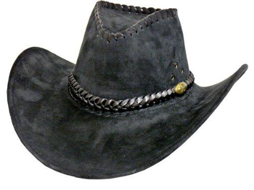 Alsino Cowboyhut Westernhut in One Size Größe aus Polyester, Schwarz neu (32)