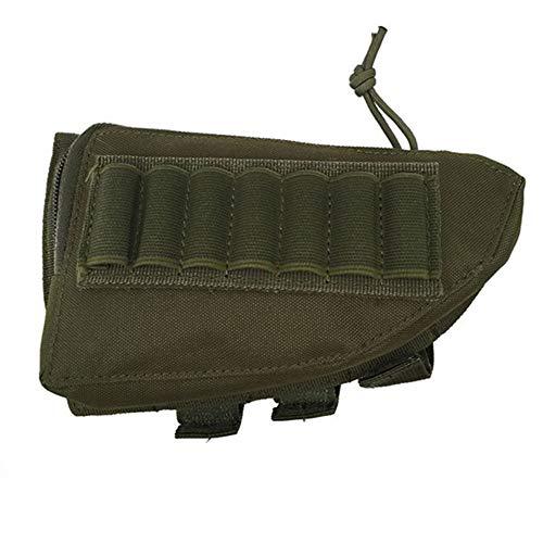 Gexgune Tactical Buttstock Escopeta Rifle Stock Portátil Titular Titular de la Bolsa Titular de la Bolsa Almohadilla de Cuero para mejillas (5 Colores Opcionales)