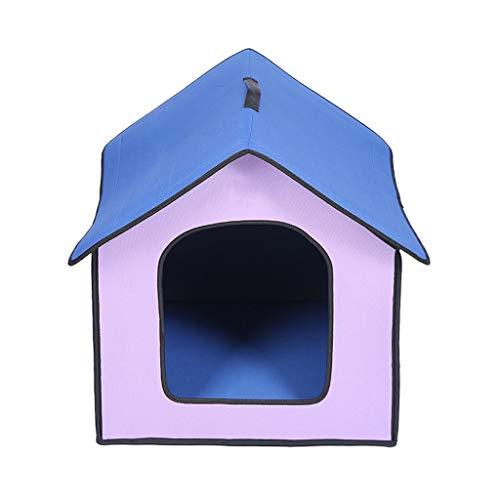 Outdoor Hundehütte - wasserabweisend Hundehütte für kleine bis große Hunde M violett