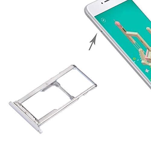 Pieza de reemplazo del teléfono Celular Meizu M3 Note/Meilan Note 3 Tarjeta SIM SIM/Micro SD Bandeja Accesorios telefonicos (Color : Silver)