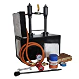 Simond Store Gas Propane Forge Double Burner w/1 Door, Blacksmithing Forge for Knife Making Forging Tools and Equipments