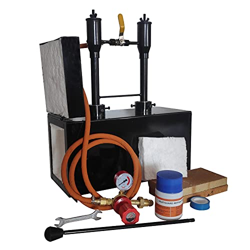 Double Burner Gas Propane Forge Furnace Blacksmith Knife making w/ 1 Door