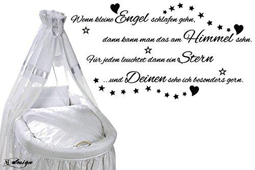 WANDTATTOO Sprüche Kinderzimmer ***Wenn kleine Engel schlafen gehn,...*** Größen u. Farbauswahl - von A&D design (95cmx 51cm)