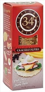 4.5 Oz. 34 Degrees Cracked Pepper Crispbread - Pack Of 18