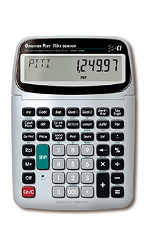 Calculated Industries 43430 Qualifier Plus IIIfx Desktop PRO Real Estate Mortgage Finance Calculator | Clearly-Labeled Keys | Buyer Pre-Qualifying | Payments, Amortizations, ARMs, Combos, FHA/VA, More