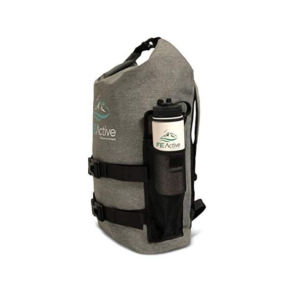 41GCAIsa3 L. SS600  - FE Active Mochila Impermeable Dry Bag - Bolsa Estanca 25L para Deportes Acuáticos, Escuela, Aire Libre, Bolsa de Gimnasio, Camping, Mochilero, Senderismo, Cano, Kayak, Surf | Diseñada en California