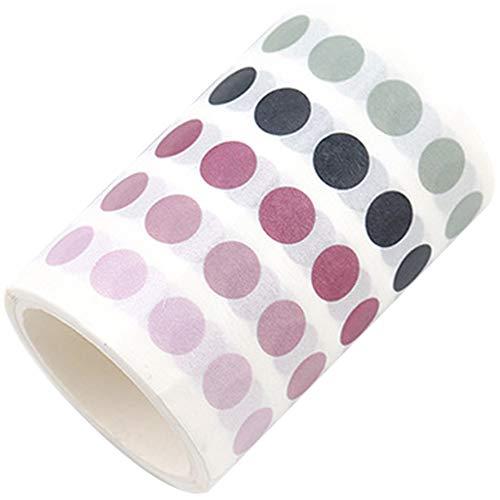 336 PC/Los Bunte Punkte Washi Klebeband Japanische Papier DIY-Planer Masking Tape Klebeband Aufkleber dekoratives Briefpapier Bänder rosa Farbe