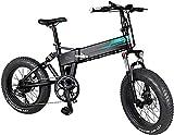 FIIDO Bicicleta eléctrica plegable M1 Pro de 500 W, para adultos, 48 V, 12,8 Ah, batería de iones de litio, velocidad máxima de 40 km/h, duración de 5 a 7 días (negro)
