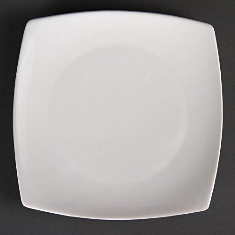 Olympia u169blancware voitureré arrondi, Assiette, blanc (Lot de 12)