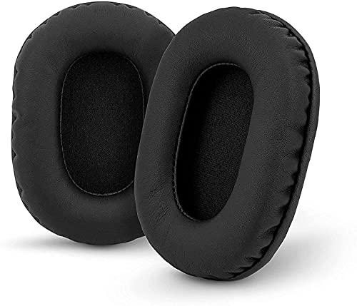 Miruchertter Coussinets de rechange en cuir synthétique pour casque Sony MDR-7506, MDR-V6, MDR-CD900ST avec mousse à mémoire de forme