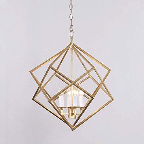 Lanterne suspendue, luminaire de plafond vintage lustre industriel à cage en métal à 4 ampoules, luminaire suspendu de salle à manger de l
