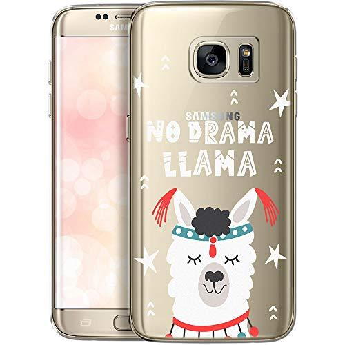 OOH!COLOR Handyhülle kompatibel mit Samsung Galaxy S7 Hülle durchsichtig mit Muster Silikon Ultra dünn Schutzhülle transparent Bumper Case für Samsung S7 G930F No Drama Lama (EINWEG)