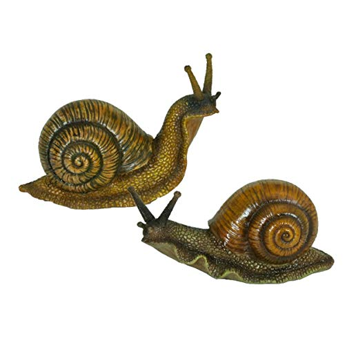 Varilando® Zuckersüße dekorative 2er-Set Deko-Schnecke für den Garten Deko-Figur Garten-Figur Tier-Figur