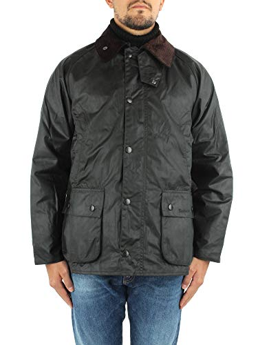 Barbour MW0018-SG91 New Bedale Waxed Jacket Sage Dark Green - Chaqueta impermeable...