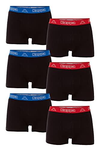 Kappa VINESTA Retro Pants - Pack de 6 calzoncillos tipo bóxer para hombre, 19-3911 Deep Black, XXXL