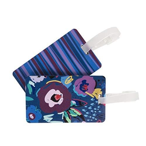 Travelon - Etiqueta para equipaje de expresión, diseño de gato, Juego de 2 etiquetas para equipaje., multicolor (Mod Floral), Luggage Tags