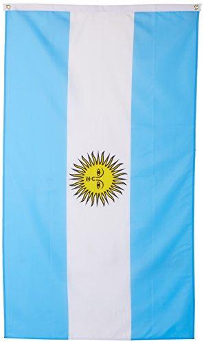Supportershop Argentine - Banderín de córner para fútbol, Color, Talla FR: 1,50 x 0,90 m