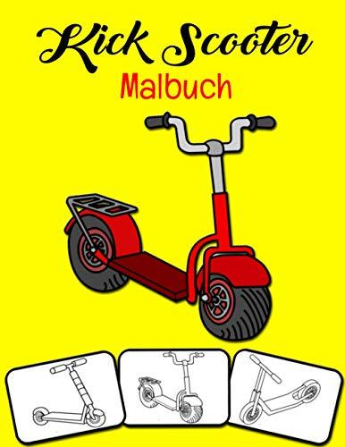 Kick Scooter Malbuch: Farbe und Spaß! Kinder lernen Kick Scooter mit diesem fantastischen Kick Scooter Malbuch kennen.