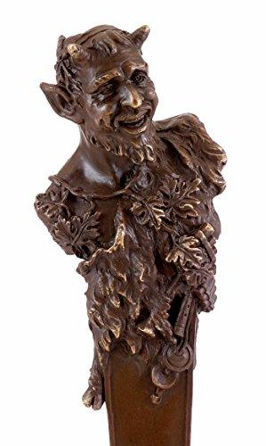 Kunst & Ambiente - Wiener Bronze Figur - Faun Büste/Teufel/Satyr - Bergmann Stempel - Bronzefigur - Skulptur - Büste